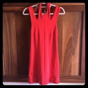 Bright pink/orange racer back  dress